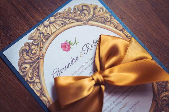 Partecipazioni Matrimonio La Bella E La Bestia.Matrimonio A Tema La Bella E La Bestia Le Chicche Di Claudia