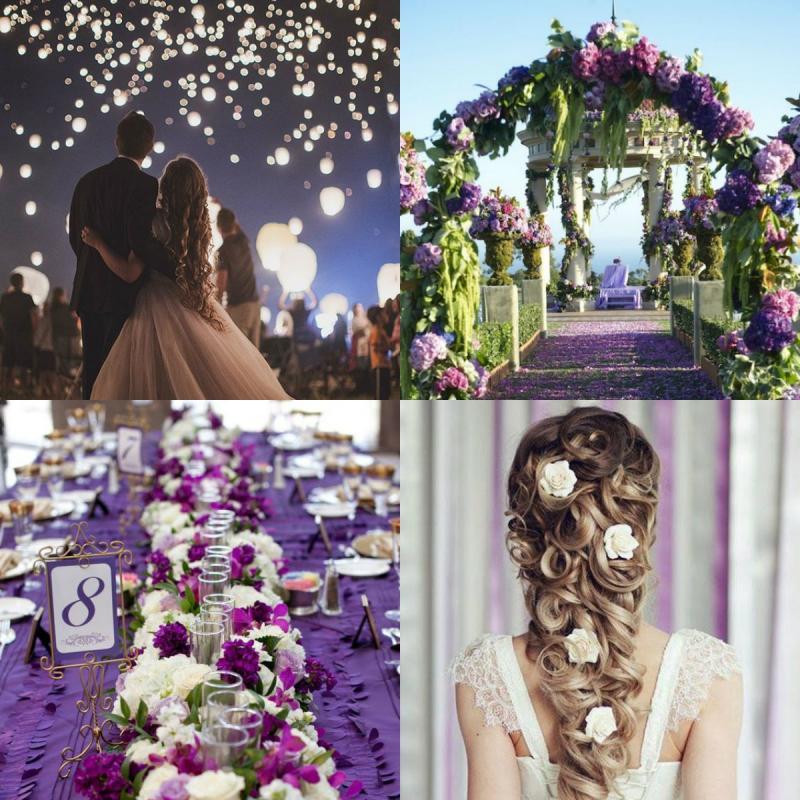 Matrimonio a tema Rapunzel