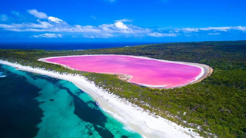 Lo straordinario spettacolo dei laghi rosa