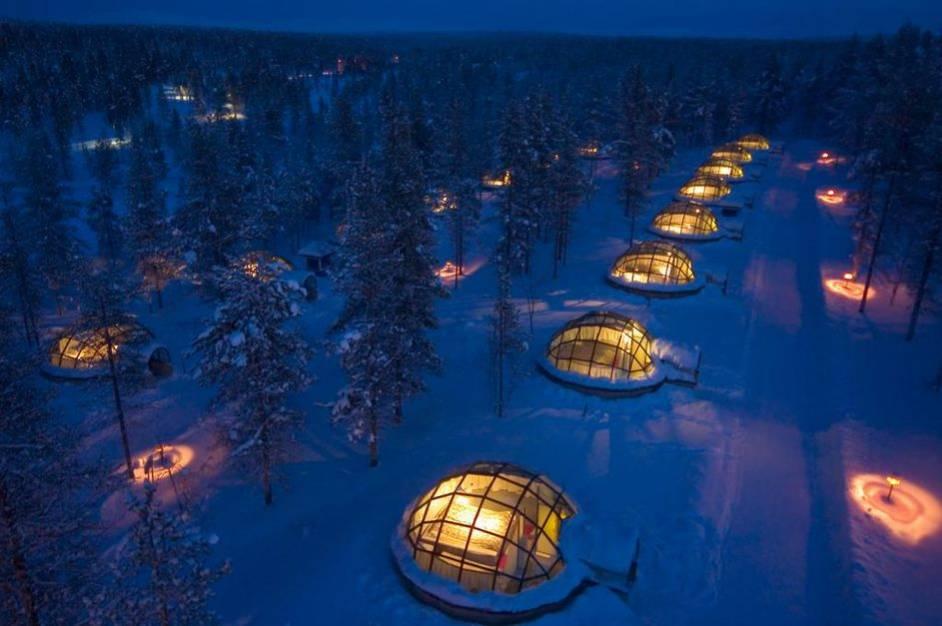 Viaggio in Lapponia. Stanza con vista sull'aurora boreale!