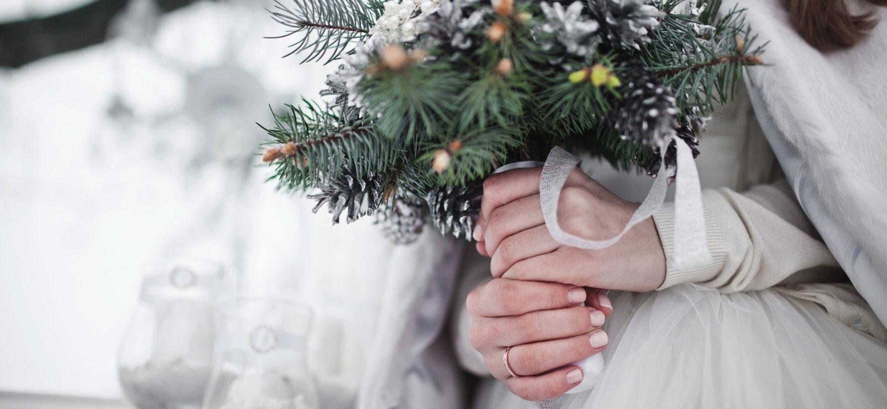 Decorazioni matrimonio d'inverno