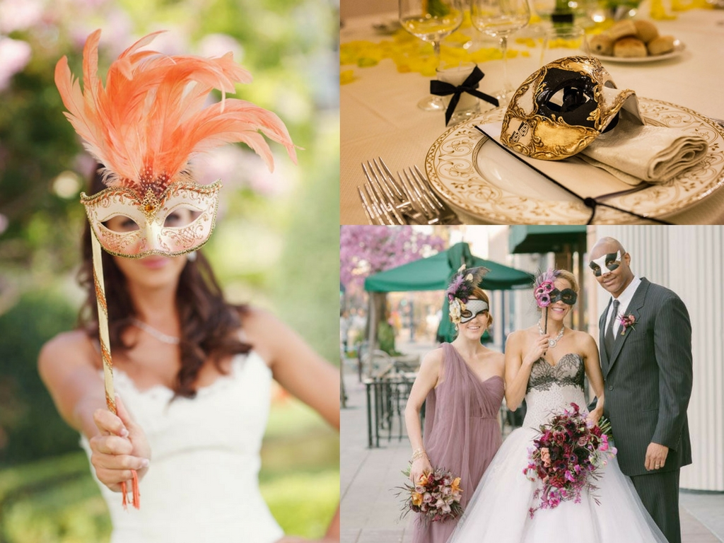 Matrimonio in maschera a tema Carnevale di Venezia