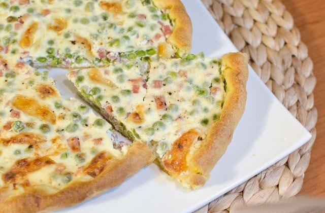 Torta salata prosciutto e piselli
