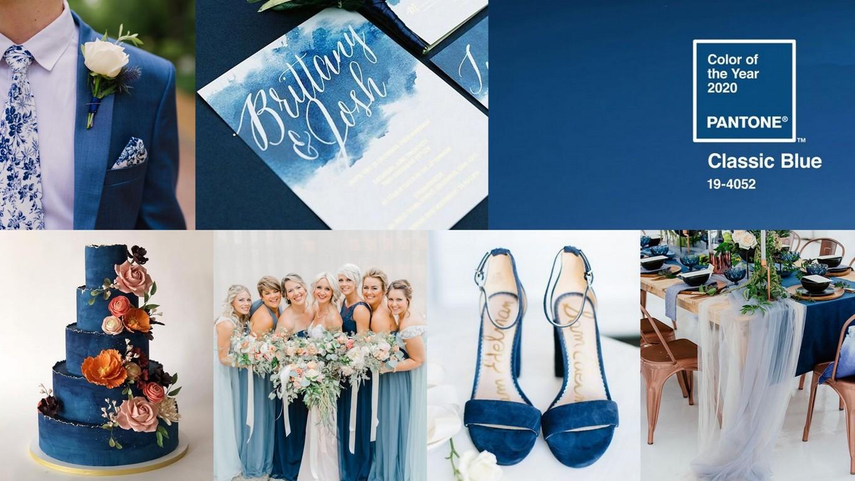 Classic Blue: colore matrimonio 2020
