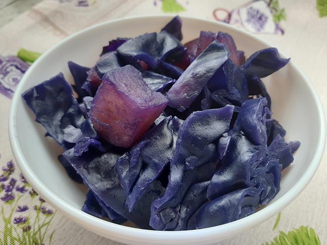 Cavolo viola e patate